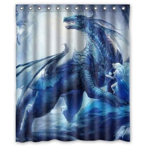 dragon curtains cool dragon design sea