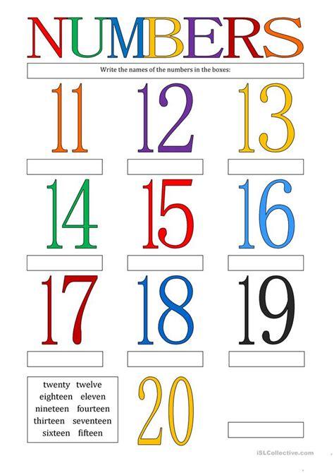 free printable worksheets numbers 11 20 numbers 11 20 worksheet free esl printable worksheets
