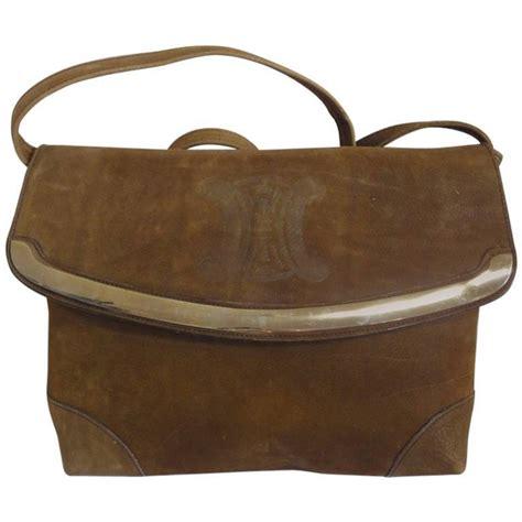 vintage genuine suede tanned brown leather shoulder