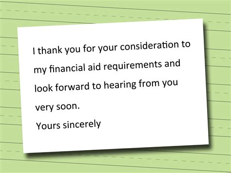 Financial Need Letter For Scholarship 3 Ways To Write A Financial Aid Statement Wikihow