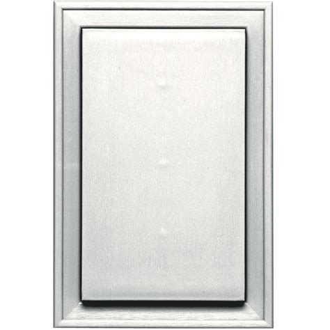 Builders Edge 8 125 In X 12 In 123 White Jumbo Mounting Siding Mounting Blocks Light Fixtures