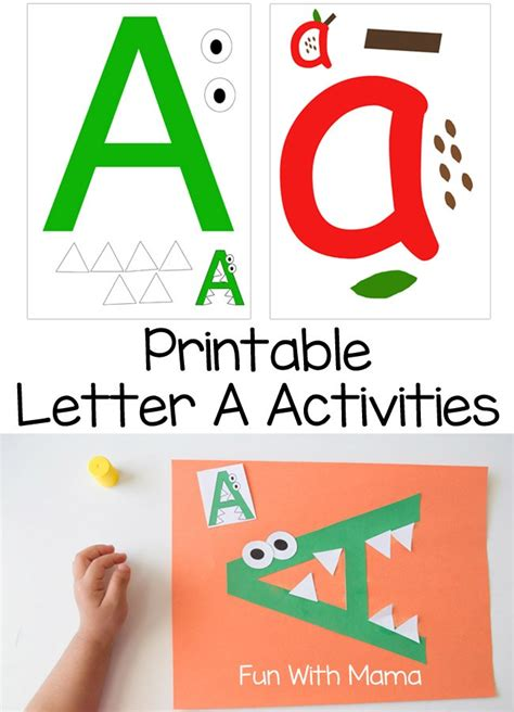 printable alphabet activities for toddlers printable letter a crafts and activities