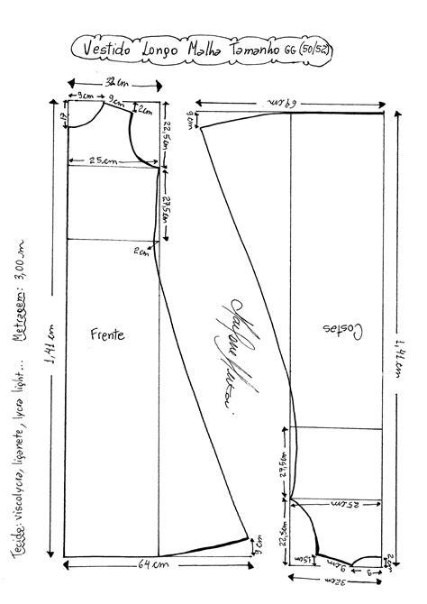 esquema de vestido esquema de molde de vestido de malha tamanho gg 50 52