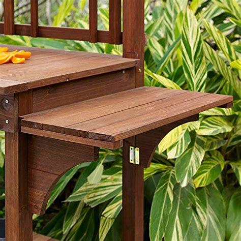outdoor potting bench with storage garden potting bench with storage shelf 6cows greenhouse