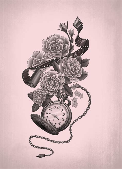 time tattoos designs pocket images designs