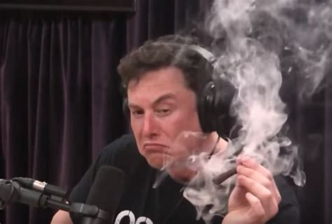 elon musk smokes spliff sinks stock