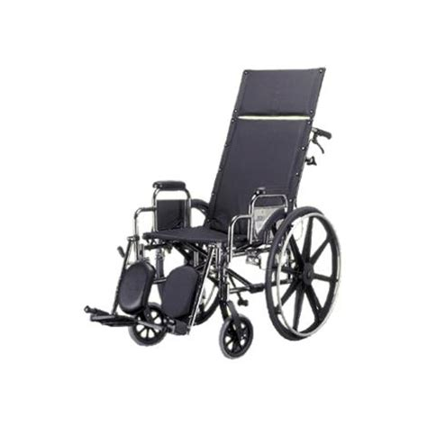 medline excel reclining wheelchair reclining back