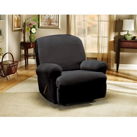 how to put on sure fit slipcovers sofa recliner wingback recliner slipcover sure fit