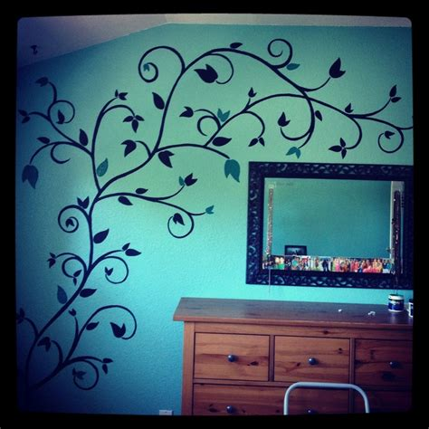 wall paint designs hand painted wall design paint pinterest powder