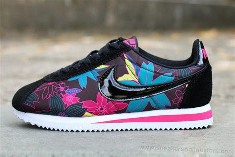 Nike 5 0 Flower factory outlet nike classic cortez 2016 flowers black pink