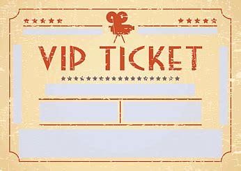 Word Vorlage Eintrittskarte Drucke Selbst Kreative Einladungskarte Vip Ticket Retro