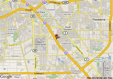 houston map hobby airport map of best value inn and suites houston hobby airport