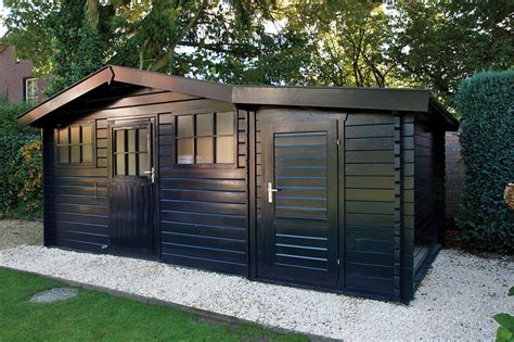 Shed Roof Extension by 45mm Log Cabin Storage Annexe 1 6x3m