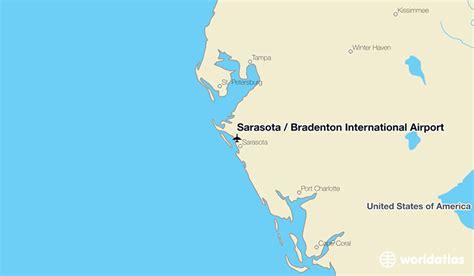 where is sarasota florida located on the map sarasota bradenton international airport srq worldatlas