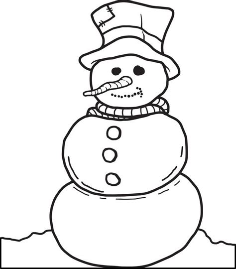 snowman coloring pages free coloring pages of snowman