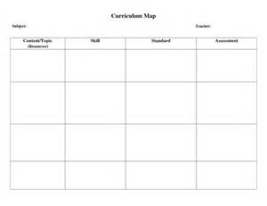 Curriculum Map Template by Curriculum Map Template Beepmunk