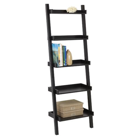 java linea leaning bookcase the container store