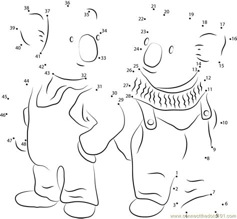 frank and buster dot to dot printable worksheet connect