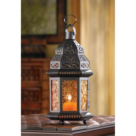 Lantern Home Decor | amber moroccan candle lantern wholesale at koehler home decor