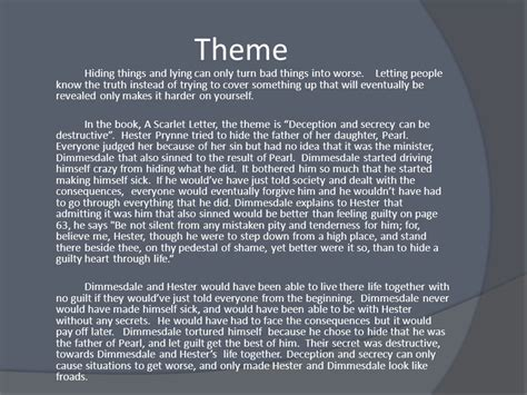theme of forgiveness in the scarlet letter the scarlet letter project ppt video online download