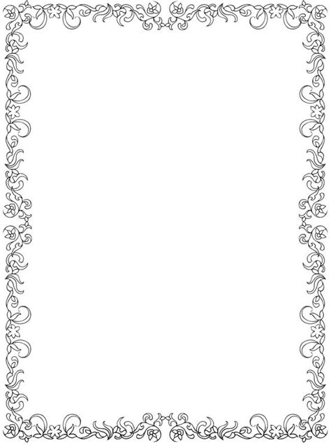 rose border coloring page 17 best images about printable borders on pinterest