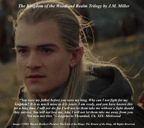 orlando bloom elvish in lotr legolas speaks to thranduil in chapter xix mirkwood of