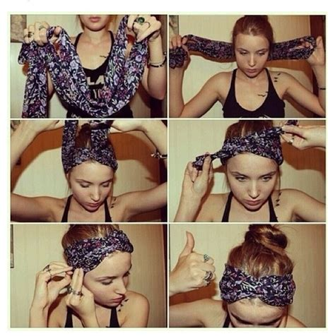 different ways to wear a bandana with short hair how to wear a scarf as a bandana hair styles pinterest