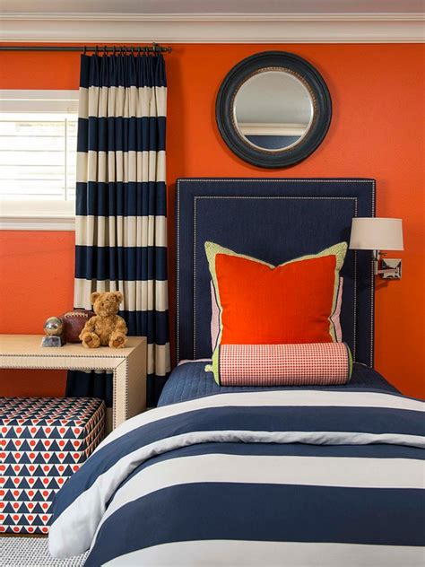 orange bedroom accessories orange and navy color palette boy s bedroom orange paint