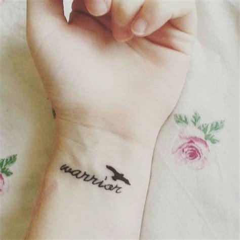warrior word tattoo 100 warrior designs to get motivated