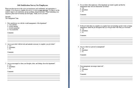 survey template word word excel pdf formats