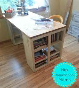 diy craft desk hack hip homeschool