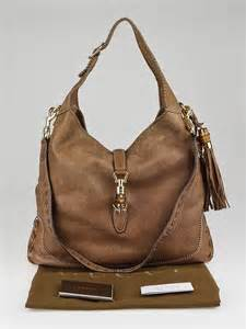 New Pauric Sweeney 08 Bags by Gucci Brown Pebbled Distressed Leather New Jackie Large