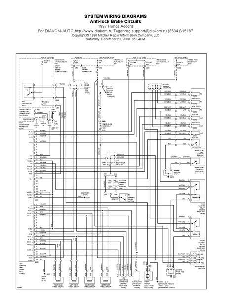 honda accord anti lock brake circuits system wiring diagrams schematic wiring diagrams