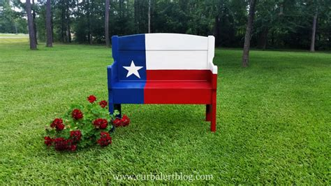 texas bench curb alert texas star headboard bench