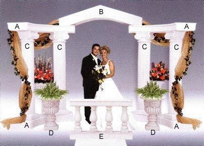 Wedding Arch Rental Raleigh Nc by Arch For Column 72 Inch X 18 Inch Rentals Raleigh Nc