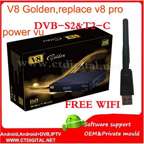 Sale Freesat V8 Golden openbox v8 golden powervu iptv box v8 golden dvb t2 s2 c