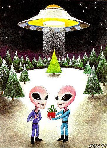 pin  marshall coleman  aliens christmas  celestial gifts wallpaper iphone christmas