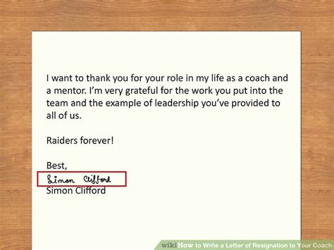 thank you letter sle coach how to write a letter of resignation to your coach with