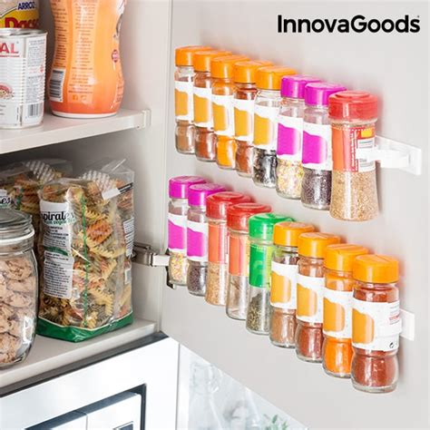 Adhesive Spice Rack innovagoods kitchen foodies adhesive and divisible spice rack you like it