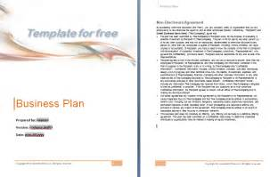 business plan template free word document plan
