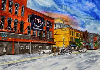 Cadillac Of Nashville watercolor paintings by derek mccrea january 2010