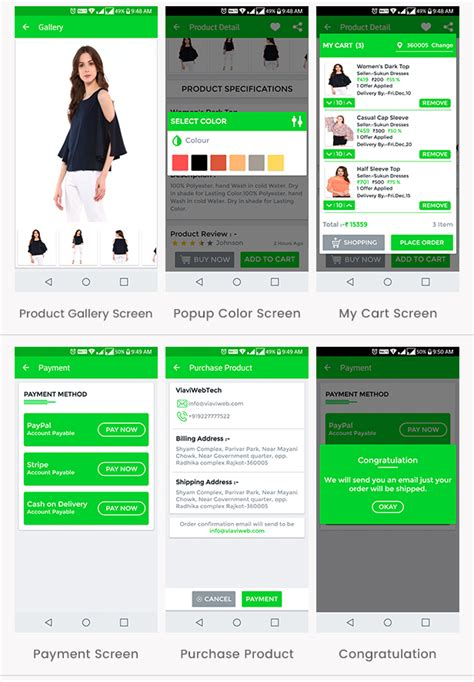 ecommerce templates for android ecommerce ui android template app with material design by