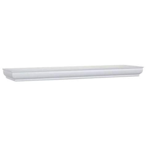 8 in d x 24 in l x 1 3 4 in h white floating shelf
