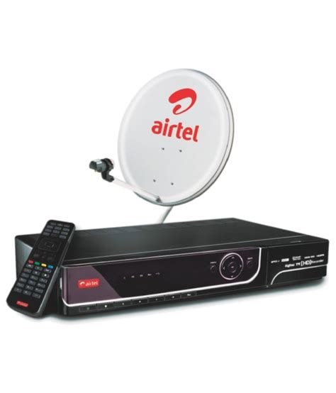 1 Set Top buy airtel hd set top box with free 1 month new mega pack