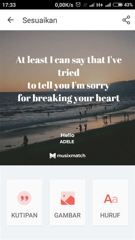 cara membuat quotes foto sul cara membuat lyric cards dengan musixmatch tips dan trik