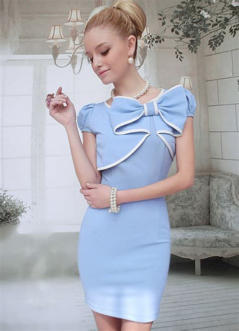 Dress Bahan Balotelly Model Pita Depan Cantik dress pita cantik terbaru 2014 model terbaru jual murah import kerja