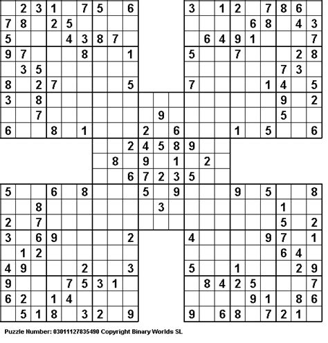 printable sudoku challenge samurai sudoku puzzles i love doing the samurai sudoku