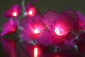 flower lights 20 pink flower battery operated led string