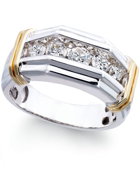 macy s s 1 ct t w ring in 10k white and
