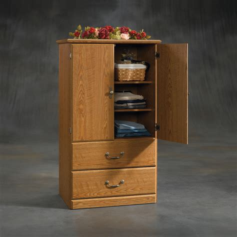 sauder clothing armoire sauder 409934 shoal creek wardrobe sauder